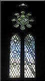 NU2229 : Leaded Window, Church of St Ebba, Beadnell by Graham Robson