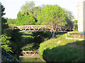 NT2575 : Footbridge in St Mark's Park by Stephen Craven