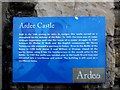 N9690 : Information board, Ardee Castle by Kenneth  Allen
