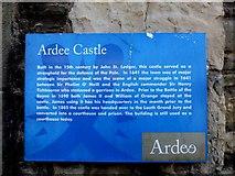 N9690 : Information board, Ardee Castle by Kenneth  Allen