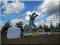 TQ3784 : Sculpture at National Paralympic Day by Paul Gillett
