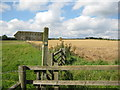 SE6083 : Harvested field beside the Cleveland Way by Pauline E