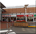 ST2995 : Shaws the Drapers and KFC, Cwmbran by Jaggery