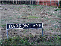 TM0981 : Darrow Lane sign by Adrian Cable