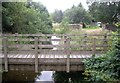 NY9393 : Footbridge over the Elsdon Burn by Stanley Howe