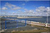 SY6874 : Portland Marina breakwater by John Stephen