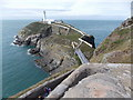 SH2082 : South Stack: nearing the bridge by Chris Downer