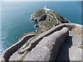 SH2082 : South Stack: a dramatic path by Chris Downer