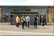 SK2524 : Turnstiles to the Coors Visitor Stand by Steve Daniels
