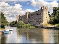 SK7954 : River Trent and Newark Castle by David Dixon