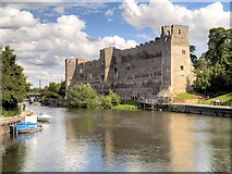 SK7954 : River Trent and Newark Castle by David Dixon