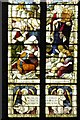 SK7953 : Newbold Memorial Window Detail - Moses Delivering The Law by David Dixon
