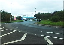 NZ1871 : The A696 by Newcastle International Airport by Barbara Carr