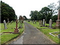 SM9901 : Path through St Michael's Cemetery Pembroke by Jaggery