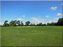 TA0832 : A cricket pitch at Oak Road playing fields by Ian S