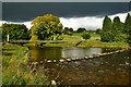 SE0262 : River Wharfe and Suspension Bridge by Peter Barr