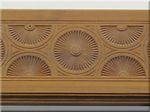 SP5206 : Oxford Centre for Islamic Studies, carved wood frieze in dining hall by David Hawgood