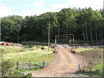 NT3267 : Construction site entrance by M J Richardson