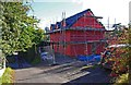 SO6775 : New building under construction, Barkers Lane, Cleobury Mortimer, Shrops by P L Chadwick