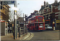 TQ2284 : 98 Routemaster bus on Willesden High Road, 2001 by David Howard