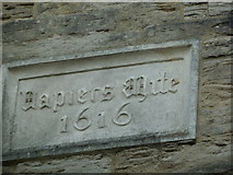 SY6990 : South Street: inscription seen above a pub by Basher Eyre
