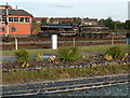 SO8375 : 30120 near the signalbox at Kidderminster Town railway station  by Jaggery