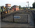 SO8375 : Beyond the platform at Kidderminster Town railway station by Jaggery