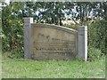 NU1334 : Sign at entrance to Northumberland Coast AONB by Graham Robson