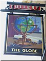"""TQ1778 : Sign at """"The Globe"""" PH on Windmill Road by Shazz"""