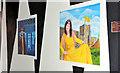 J3374 : Mural, Exchange Place, Belfast by Albert Bridge