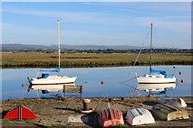 NS3138 : Pleasure Craft, Irvine Harbourside by Leslie Barrie