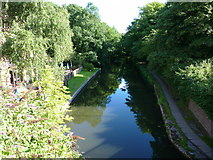 SO8275 : The canal by the Watermill pub restaurant, Kidderminster by Ruth Sharville