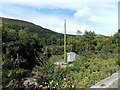 SO1707 : Communications mast near Ebbw Vale Parkway railway station by Jaggery