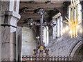 SD8706 : Rood Cross, St Leonard's Church, Middleton by David Dixon