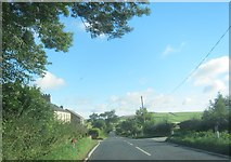 NZ1642 : Hedleyhill Lane passing Wood View Farm by peter robinson