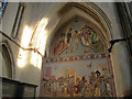 TQ7468 : Rochester Cathedral: fresco by Stephen Craven