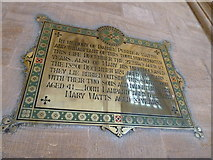 ST6316 : Sherborne Abbey: memorial (vii) by Basher Eyre