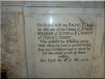 ST6316 : Sherborne Abbey: memorial (xxviii) by Basher Eyre