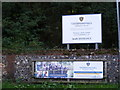 TG1413 : Taverham Hall School signs by Adrian Cable