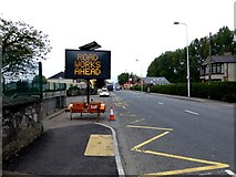 H4572 : Road works ahead, Omagh by Kenneth  Allen