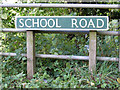 TG1620 : School Road sign by Adrian Cable