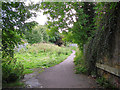 NY4254 : Path between two railways by Rose and Trev Clough