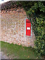 TG1421 : Church Farm Victorian Postbox by Adrian Cable