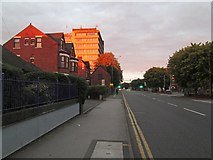 SK5838 : Radcliffe Road: daybreak in late September by John Sutton