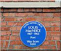 J3376 : Louis MacNeice plaque, Belfast by Albert Bridge