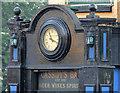 J3376 : Clock, Cassidy's Bar, Belfast by Albert Bridge