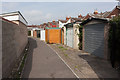 SU4519 : Alley and sheds behind The Crescent by Peter Facey