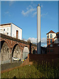 SO8455 : New chimney - Worcester by Chris Allen