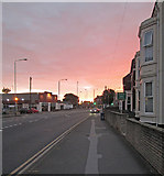 SK5838 : Radcliffe Road at sunrise by John Sutton