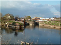 SO8453 : Diglis Locks and Worcester Cathedral by Chris Allen